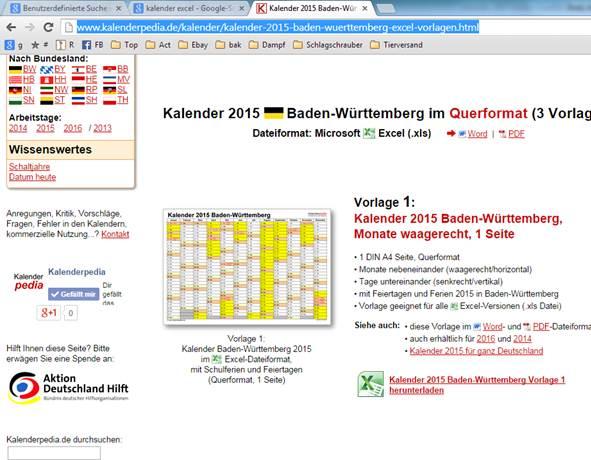 Kalender als Excel Datei @ codedocu_de Office 365