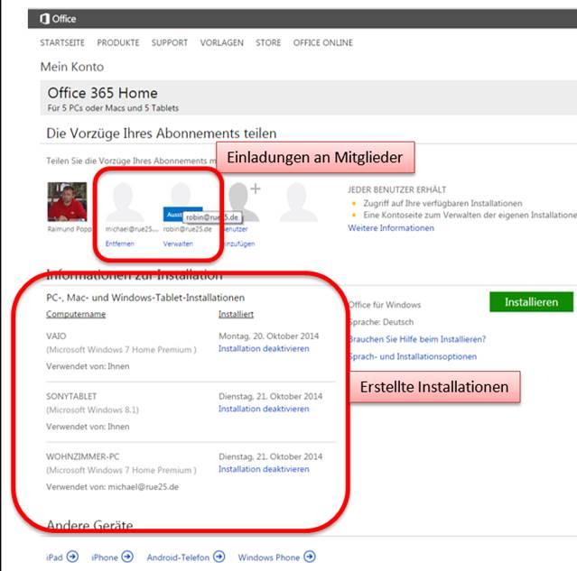 Office 365 Home Auf Mehreren Rechnern Installieren
