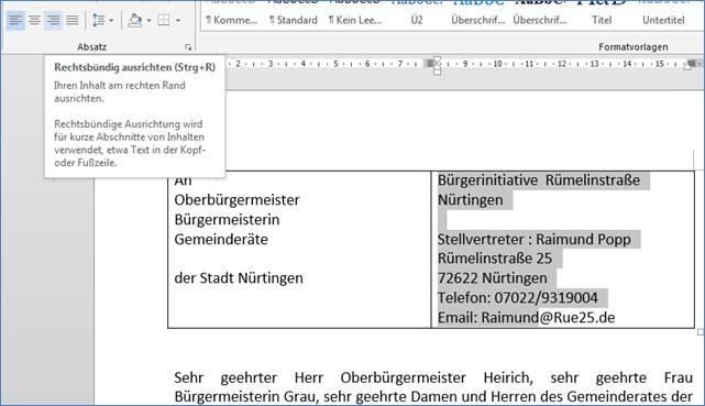 Briefe Adresse Und Absender : Im word brief die anschrift und den absender in zwei