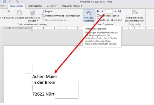 Brief Gestalten Absender Empfänger : Serienbriefe und briefumschläge erstellen mit adressen aus