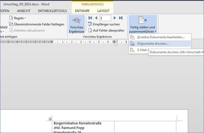 Serienbriefe Und Briefumschläge Erstellen Mit Adressen Aus Excel