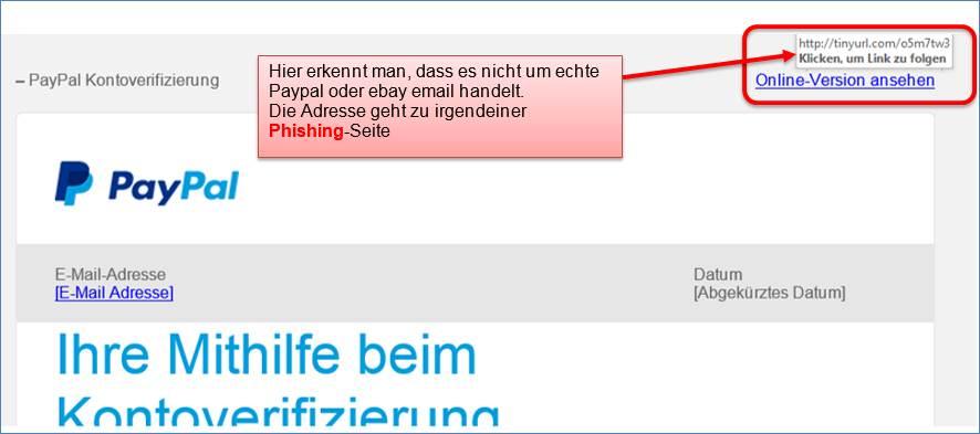 Paypal Sicherheitsabteilung