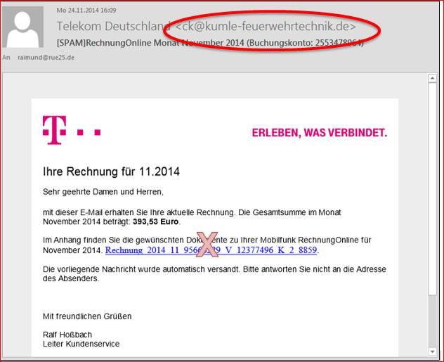 Gefläschte Rechnung Von Der Telekom At Codedocude Blog