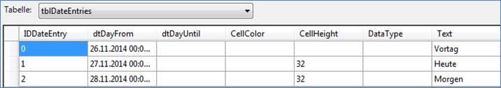 c tabelle mit werten f llen codedocu de net framework. Black Bedroom Furniture Sets. Home Design Ideas
