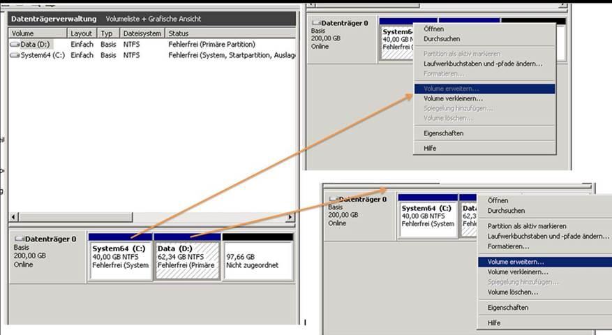 Strato Domain ändern auf strato windows 2008 server mit plex kann die systempartion