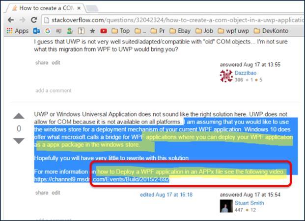 Wie kann man WPF Anwendungen mit Universal Windows Platform UWP