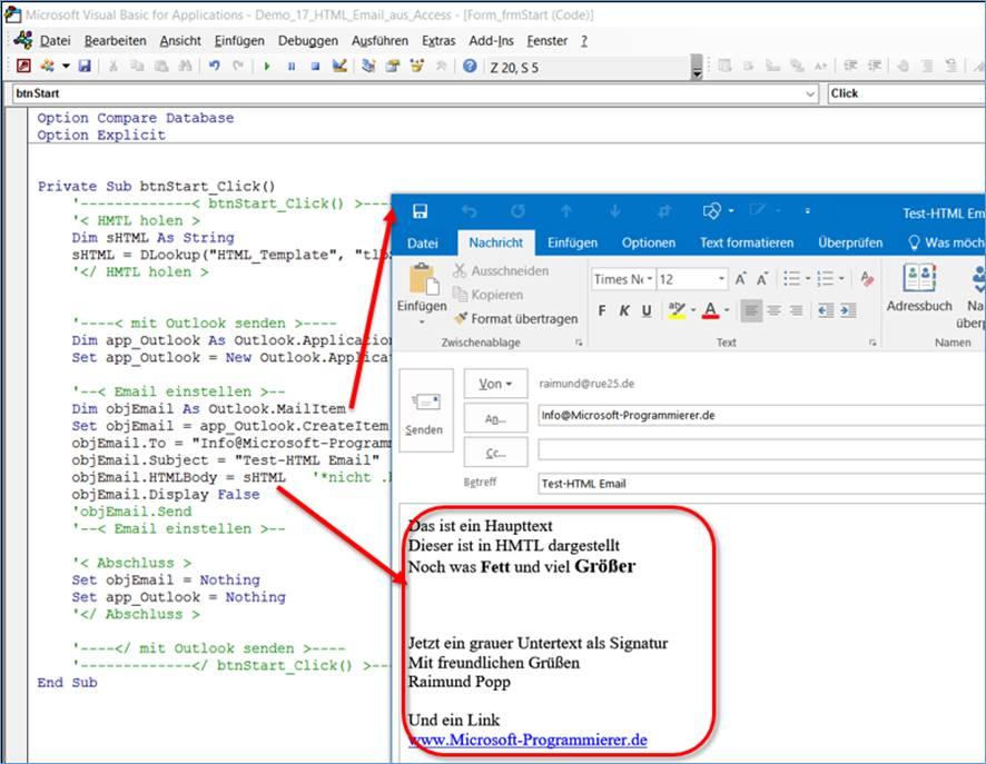 Access Html Emails Automatisch Versenden Mit Microsoft Access