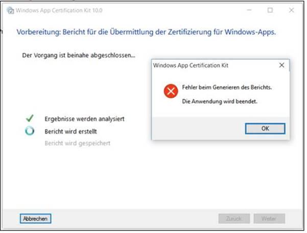 WACK Ungelöst: AppCertKit stürzt beim Speichern ab… @ codedocu_de ...