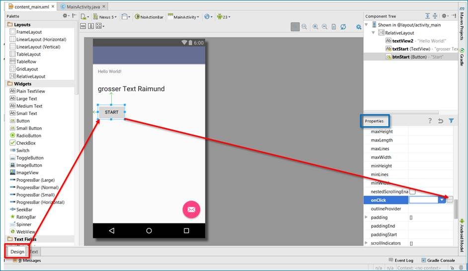 Andoid App: Button Click event zufügen @ codedocu_de Google