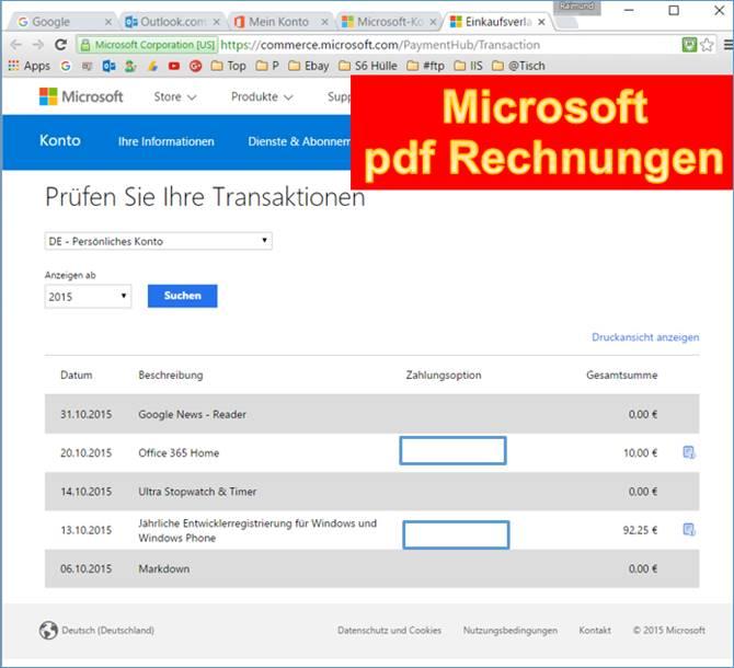 Microsoft Download Und Drucken Von Rechnungen At Codedocude Sonstiges