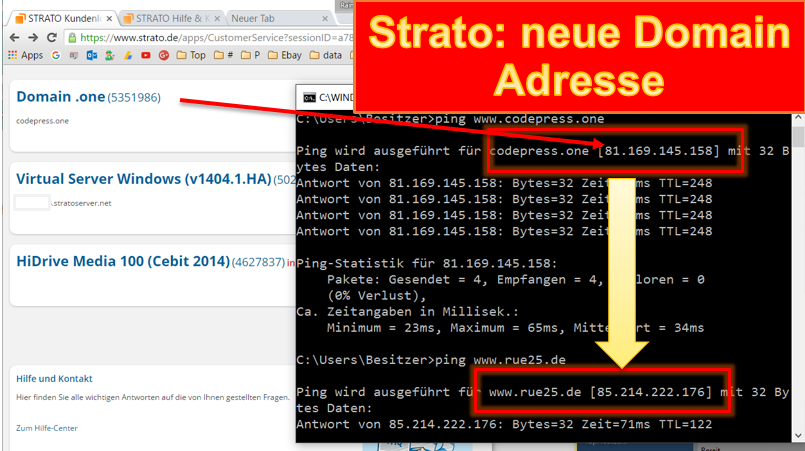 Strato Domain ändern strato neue domain auf eigenen server umleiten programmierer