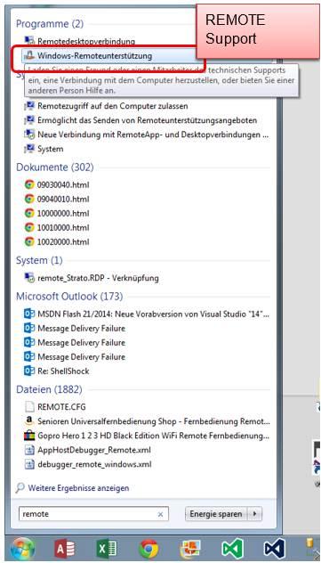 unterstüzung mit windows remoteunterstützung @ programmierer software, Einladung
