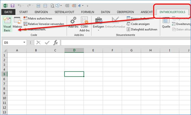 grundlage makros und programmierung mit excel codedocu de office 365. Black Bedroom Furniture Sets. Home Design Ideas