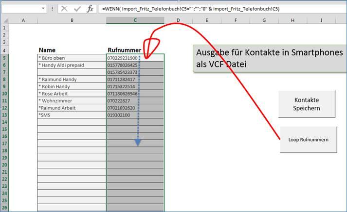 Excel : Durchlaufen von Zeilen, Auswerten von Zellinhalten ...