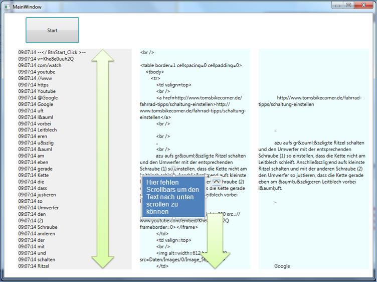 Textblock mit Scrollbars @ codedocu_de Net Framework