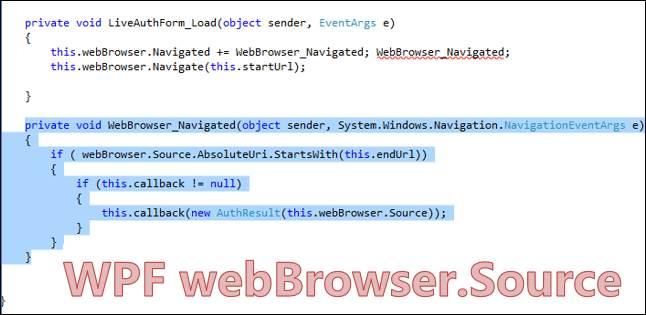 Convertierung WinForms zu WPF : webBrowser URL wird zu Source