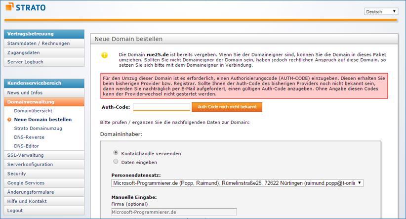 Strato Domain ändern wie macht einen domain transfer hosteurope zu strato