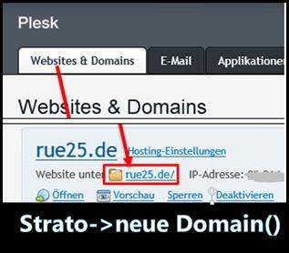 Eigene Domain wie erstellt bei strato plesk 12 eine neue eigene domain