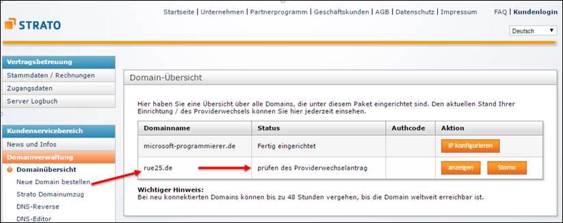 Strato Domain ändern wie erstellt bei strato plesk 12 eine neue eigene domain