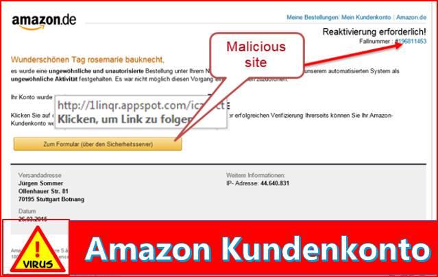 Amazon Konto Deaktivirt