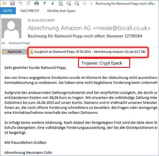 Vorsicht Trojaner In Abrechnung Amazon At Codedocude Blog