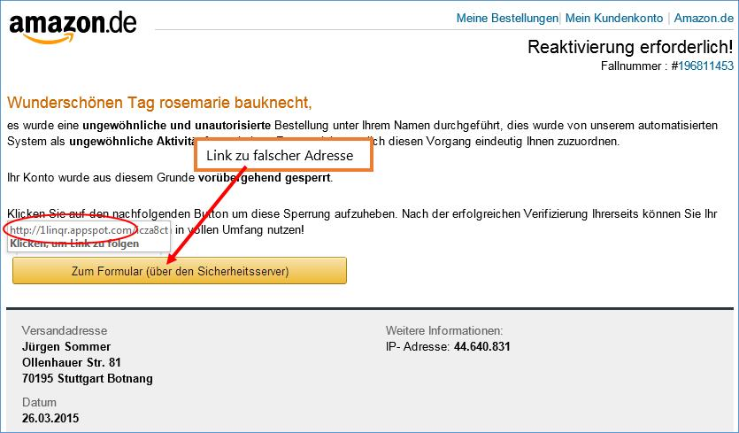 Amazon Kundennummer