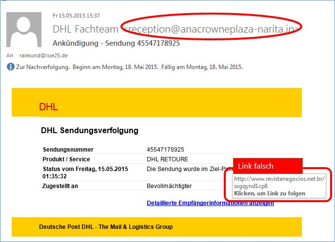 ank ndigung sendung dhl phishing codedocu de blog. Black Bedroom Furniture Sets. Home Design Ideas