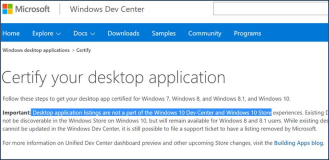 Window Store: WPF Desktop Applikationen werden NICHT mehr gelistet in Windows 10