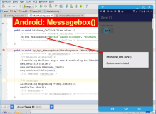 Android: Messagebox function code