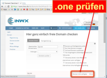 Web: .One Domains prüfen