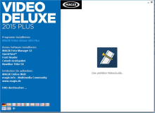 Installation der Software Magix Video Deluxe 2015 Plus