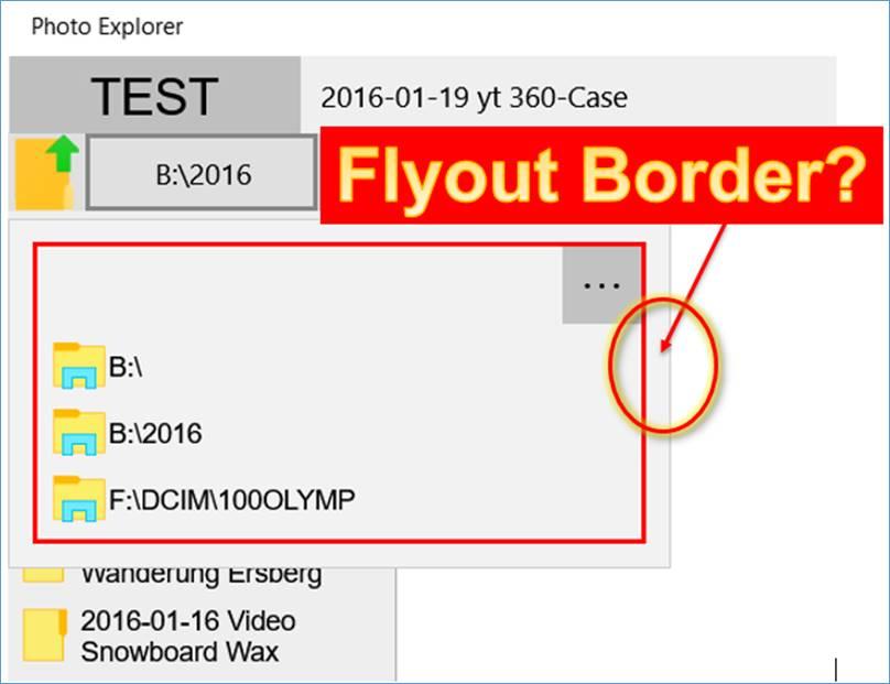 UWP: Flyout Margin entfernen @ codedocu_de