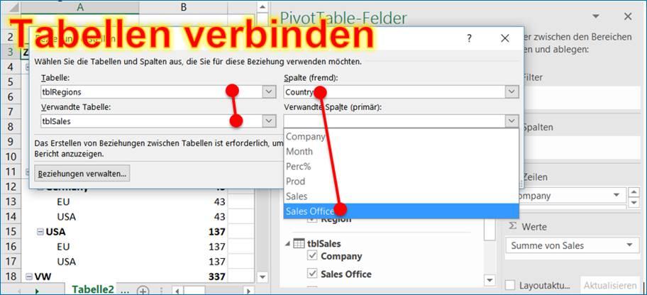 Excel Pivot: Mehrere Tabellen in Pivot verbinden @ codedocu_de ...