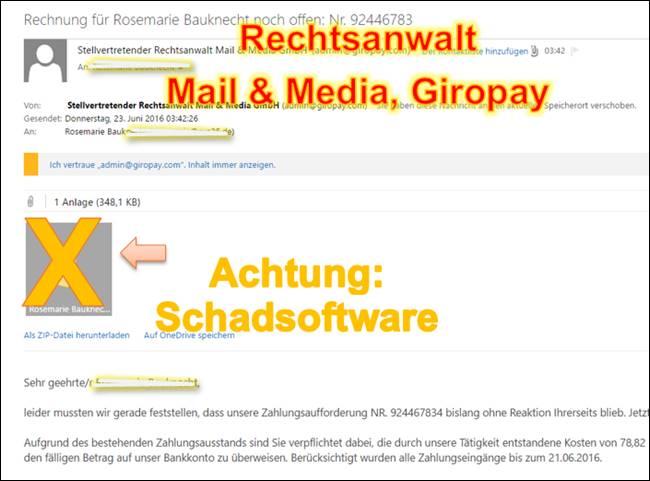 Mail & Media Gmbh Trojaner