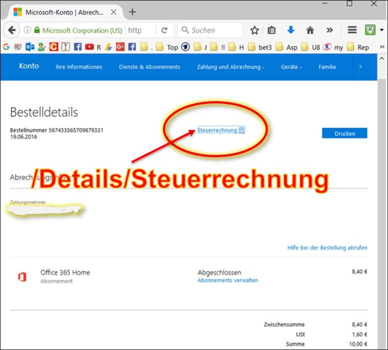 Rechnungen Von Microsoft Online Drucken Office 365 At Codedocude