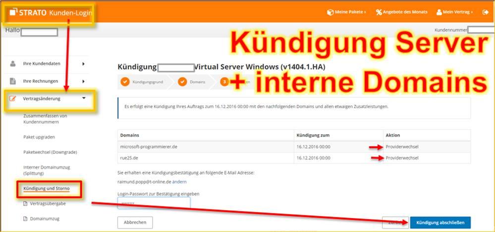 Strato Domain ändern strato kündigung domains und server programmierer sonstiges