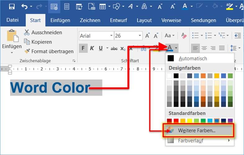 word  office  rgb werte einer farbe ermitteln   codedocu de office 365