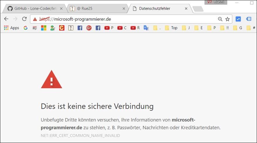 SSL Lets encrypt: kostenloses SSL für Webseiten @ codedocu_de Sonstiges