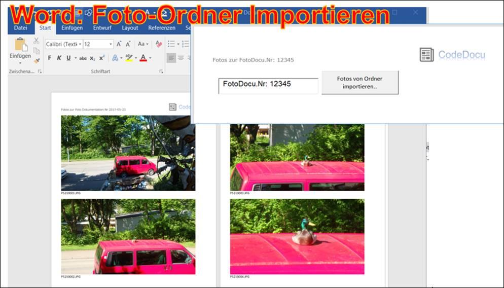 Word Vorlage: Foto-Dokumentation als Foto-Verzeichnis einlesen ...