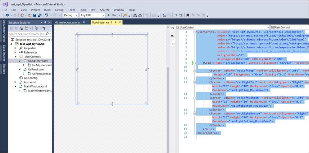 WPF: Grid mit veränderbaren Zellen @ codedocu_de Net Framework