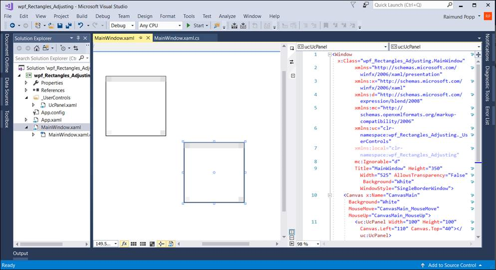 WPF: Snap Element Size to Next Lines @ codedocu_de Net Framework