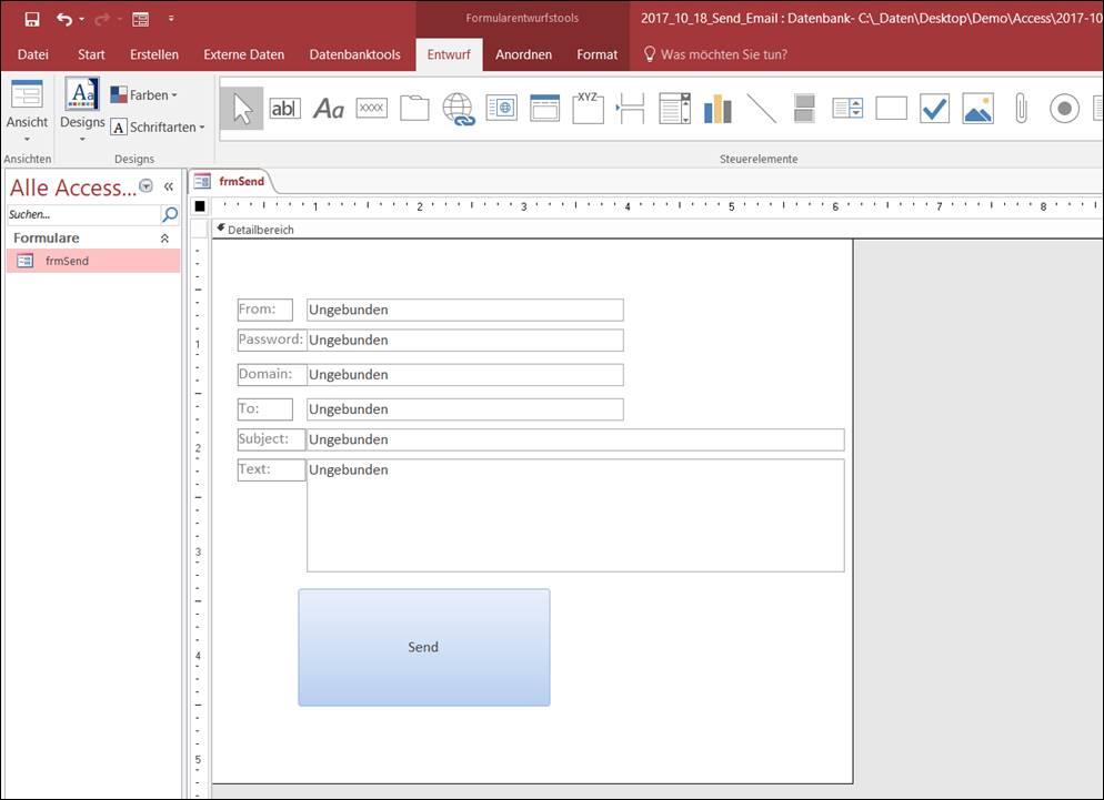 ms access emails direkt aus der office anwendung