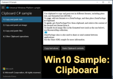 Windows 10 Sample: Clipboard