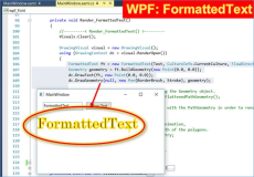 WPF: FormattedText Outlined Text example