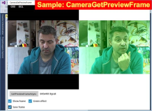 Win10 Sample: CameraGetPreviewFrame