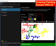 UWP Beispiel: Drawing Lines Ink