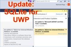 UWP, SQLite: An update to SQLite for Universal Windows Platform