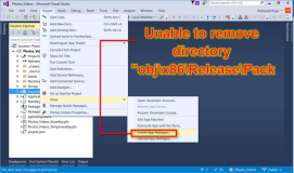 Visual Studio: Unable to Remove Directory bei Create Store App