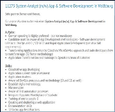 Job: System Analyst (m/w) App & Software Development in Wolfsburg