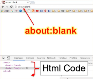 HTML Browser: Leere Webseite mit about:blank